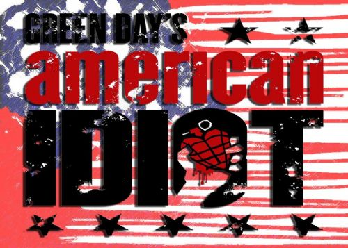GREEN DAY - AMERICAN IDIOT USA 2 / canvas print - self adhesive poster - photo print